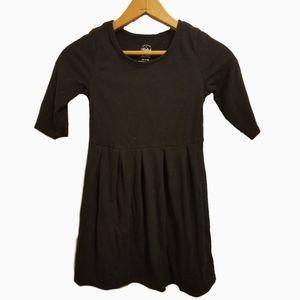 Faded glory black girls cotton blend dress 7/8